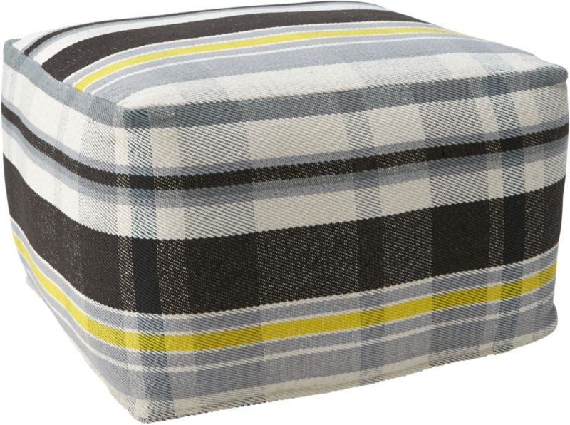 lamu plaid pouf
