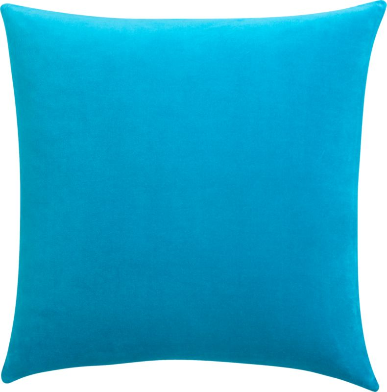 "leisure blue 23"" pillow with feather-down insert"