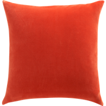 leisure burnt orange 23&quot; pillow