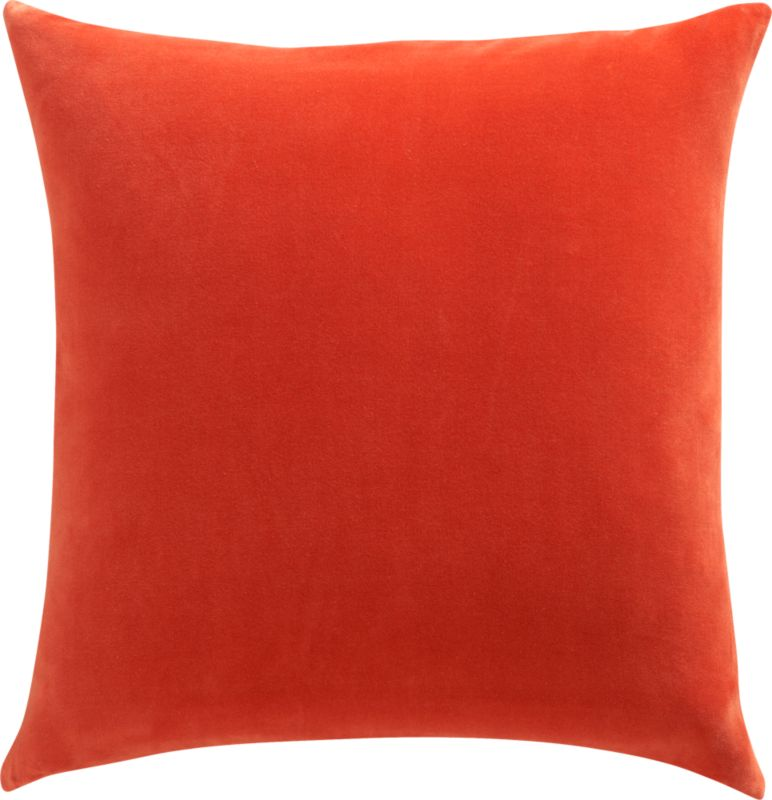 "leisure burnt orange 23"" pillow with down-alternative insert"