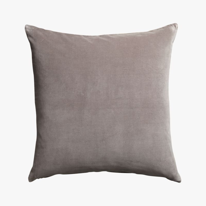 "leisure grey 23"" pillow with down-alternative insert"