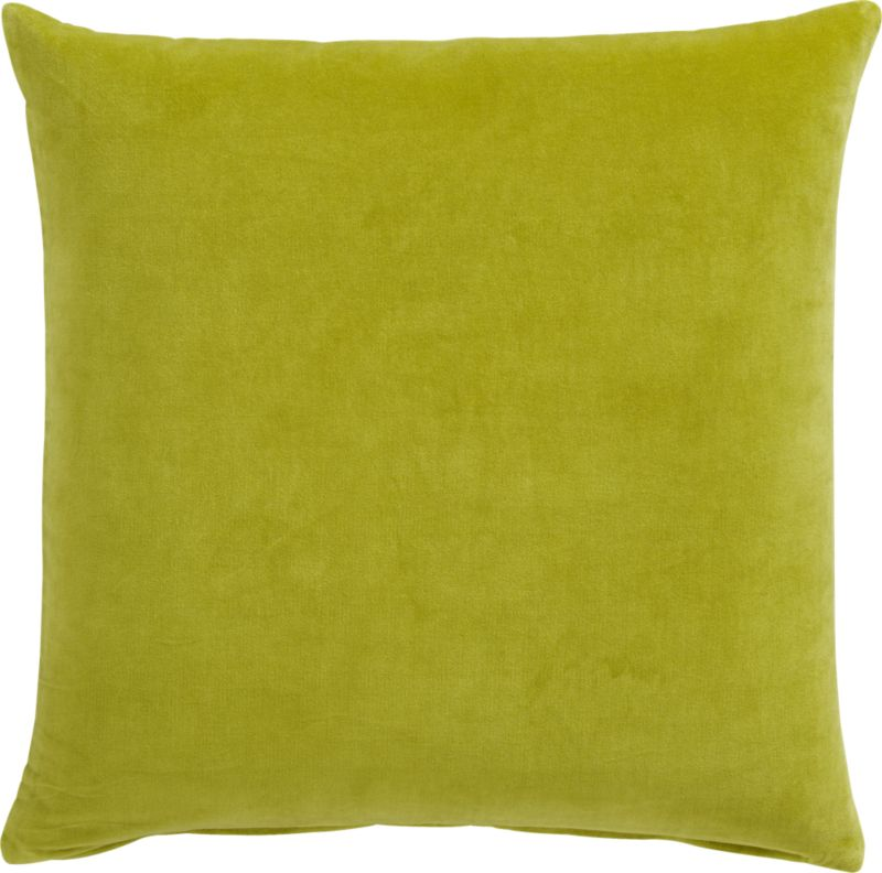 "leisure sprout 23"" pillow with feather-down insert"