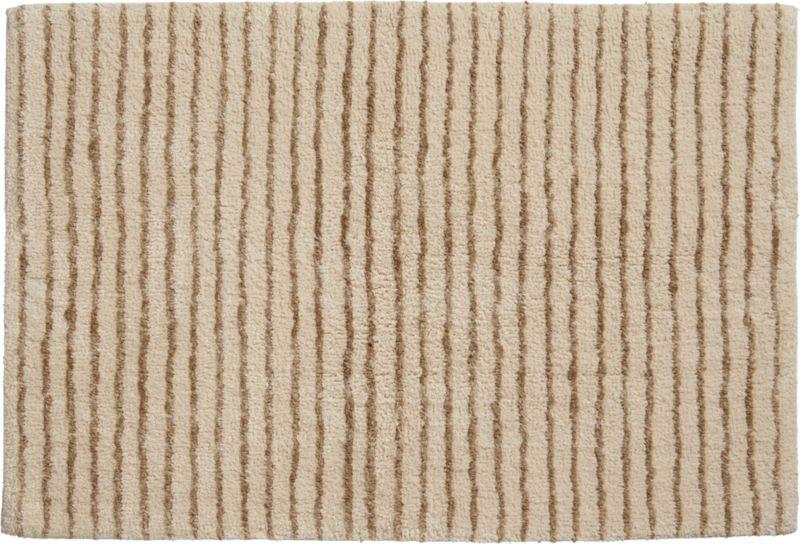lino natural bath mat