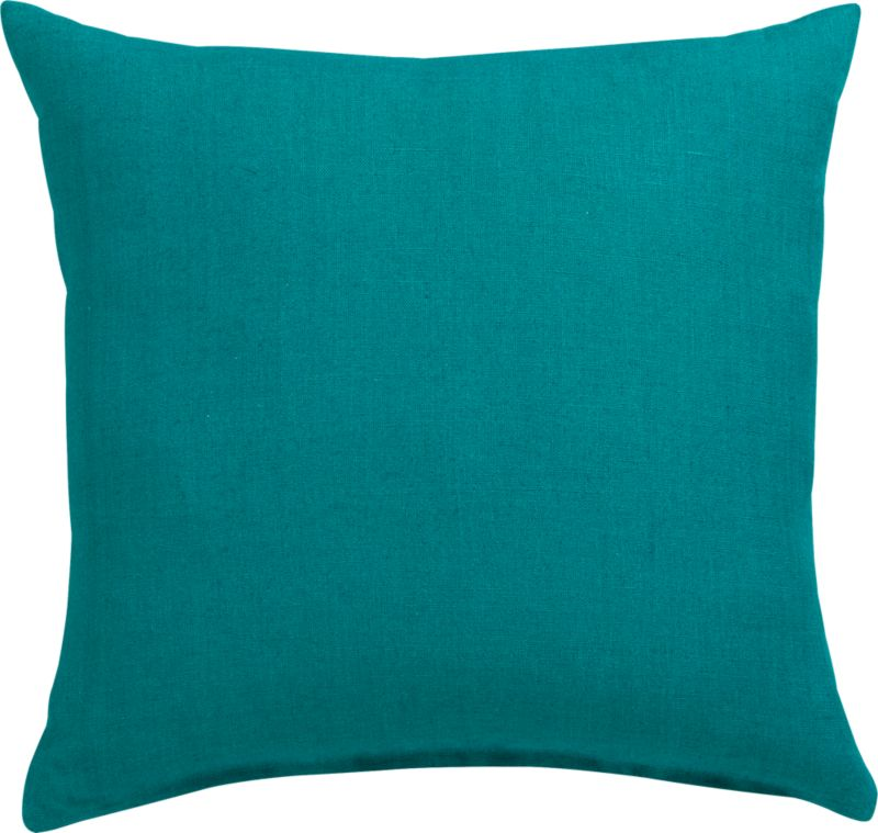 "linon hunter green 20"" pillow with feather insert"