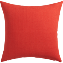 "linon red-orange 20"" pillow"