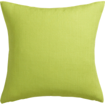 "linon sour apple 20"" pillow"