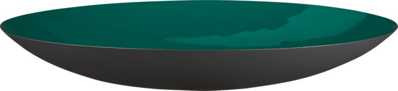 liquid blue green round bowl