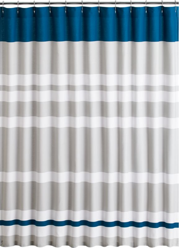 Lively Blue Shower Curtain Cb2
