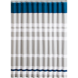 lively blue shower curtain