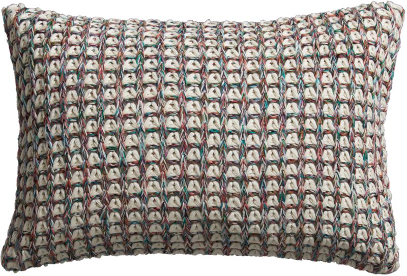 "loop knit 18""x12"" pillow with feather-down inser"