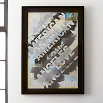 los angeles framed map print