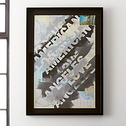 los angeles framed map print