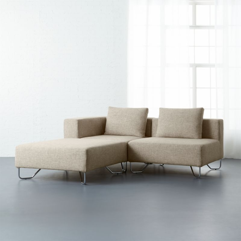 lotus 3-piece natural sectional sofa