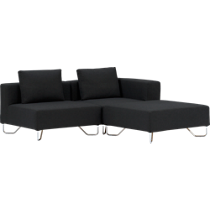 lotus antrazit sectional pieces