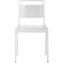 lucinda white stacking chair