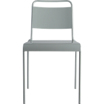 lucinda grey stacking chair