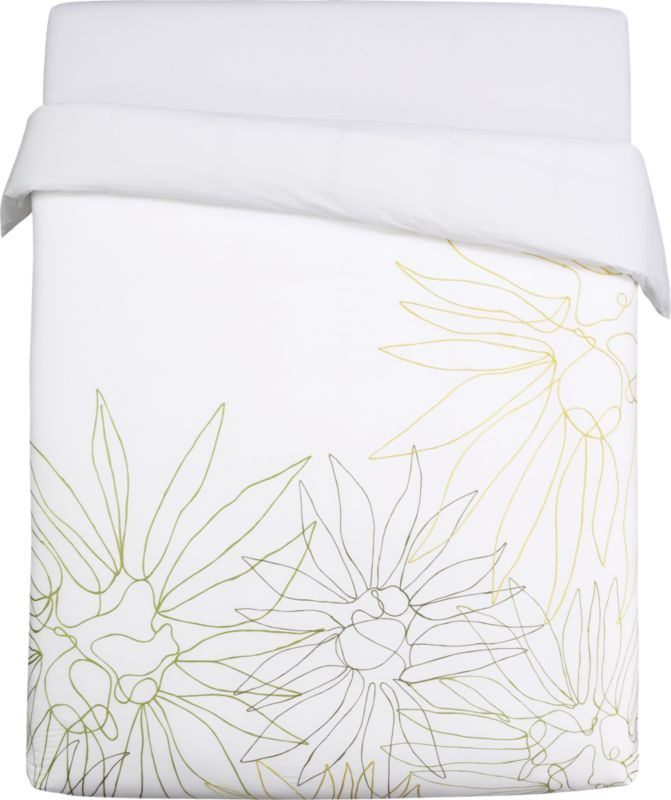 lula embroidered full/queen duvet