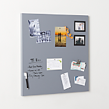 magnetic grey dry erase board