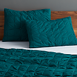 set of 2 standard mahalo blue-green shams