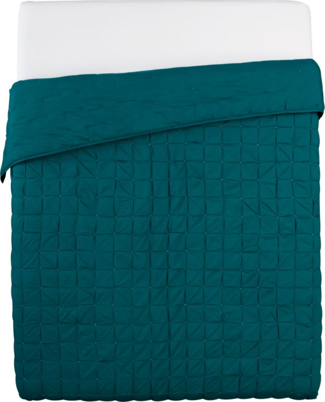 mahalo blue-green full/queen quilt