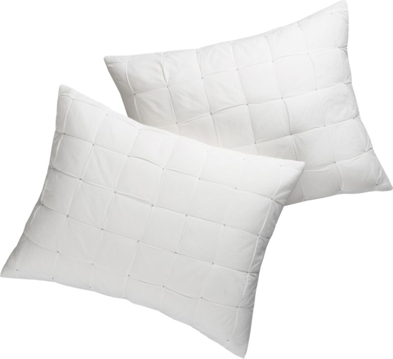 set of 2 standard mahalo white shams