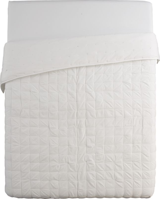 mahalo white full/queen quilt
