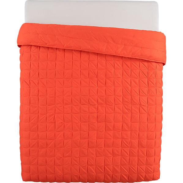 Solid Orange Quilt Mahalo red-orange full/queen