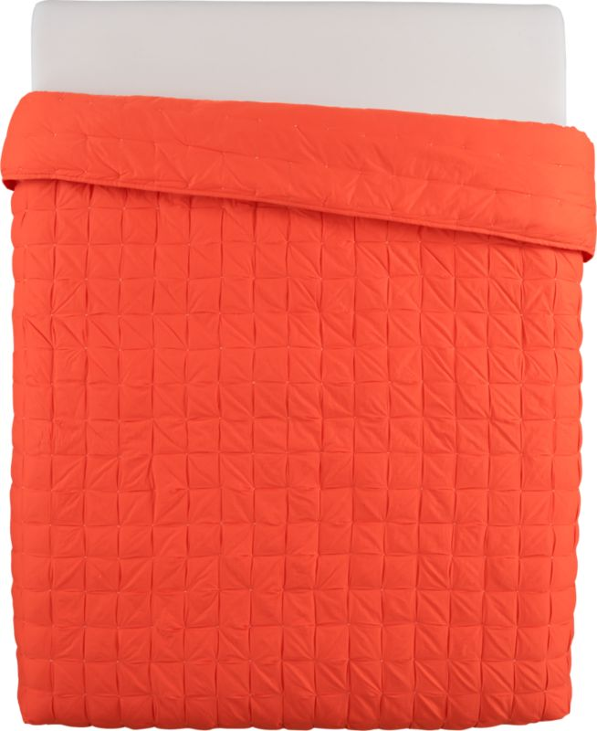 mahalo red-orange full/queen quilt