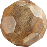 mango wood faceted orb