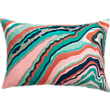 "marble cascade 18""x12"" pillow with down-alternative insert"