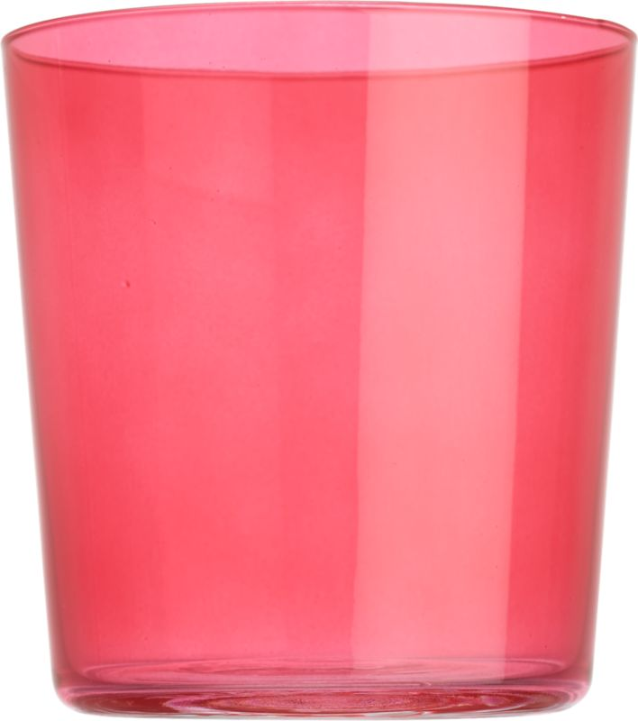 marta pink double old-fashioned glass