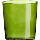 marta olive green double old-fashioned glass