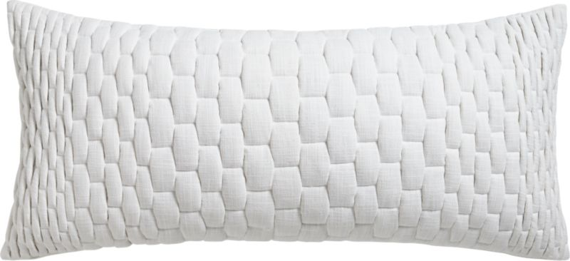 "mason ombre quilted 36""x16"" pillow with feather-down insert"