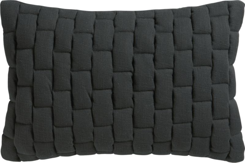 "mason quilted carbon 18""x12"" pillow"