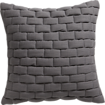 "mason quilted grey 18"" pil"