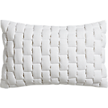 "mason quilted white 18""x12"" pillow with down-alternative insert"