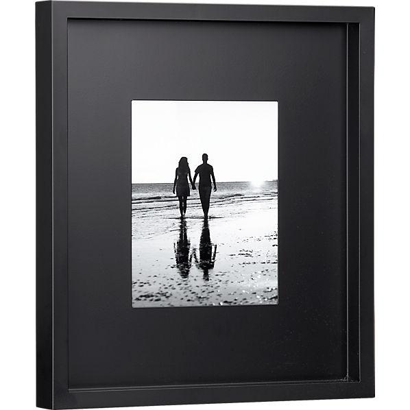 black matte 8x10 picture frame cb2