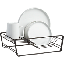 matte black dish drainer