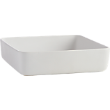 matte white large server-baking dish