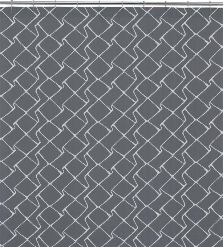 maze shower curtain