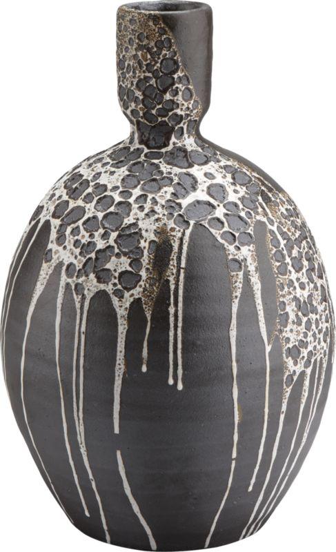 melt hand thrown vase