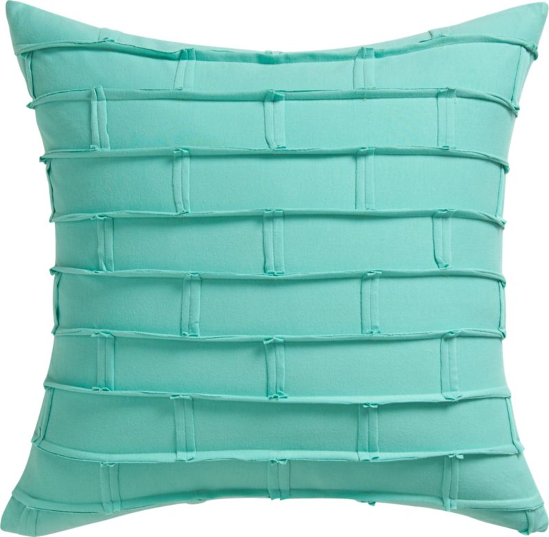 "metro aqua 20"" pillow with feather insert"