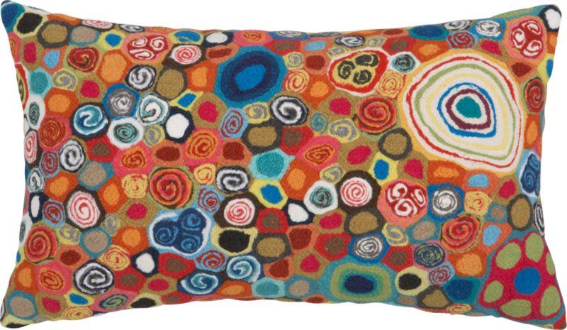 "millefiora murano 20""x12"" outdoor pillow"