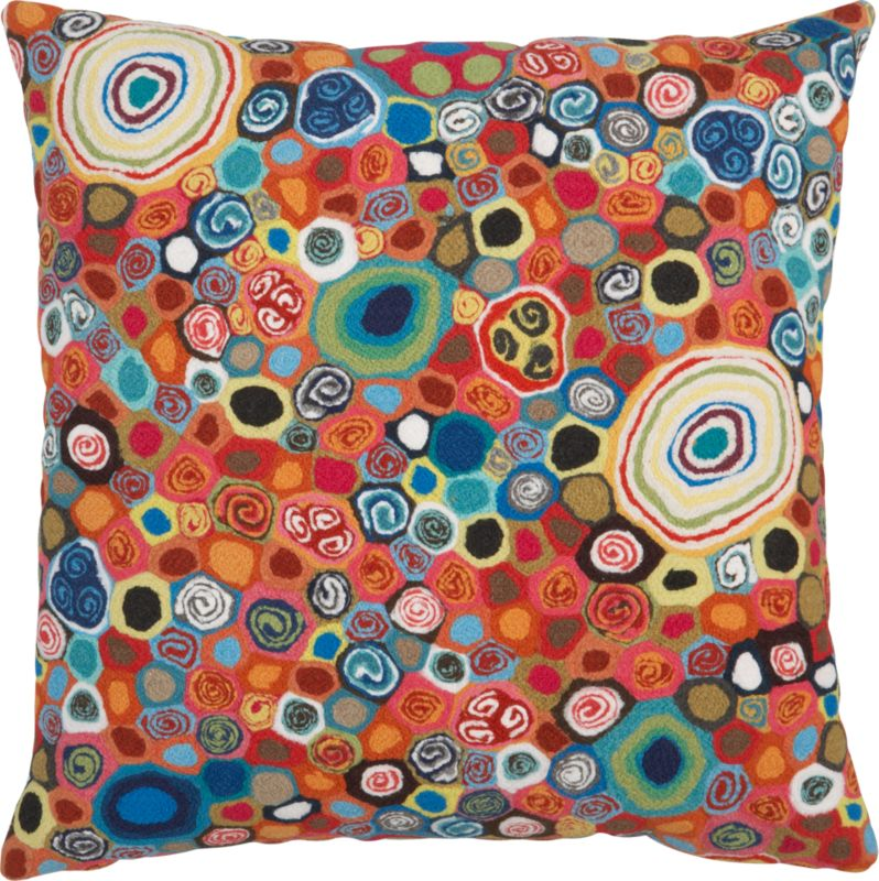 "millefiora murano 20"" outdoor pillow"