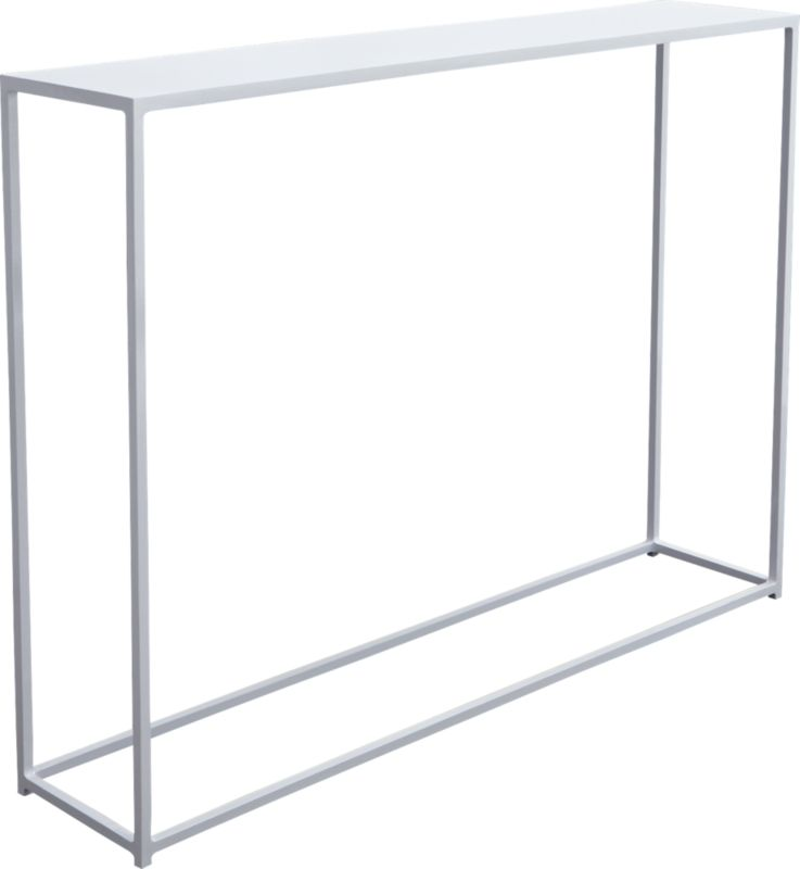 mini white console table