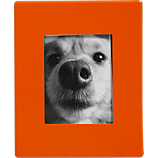 mini orange magnetic 1.5x2 picture frame
