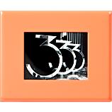 mini neon peach magnetic picture  frame