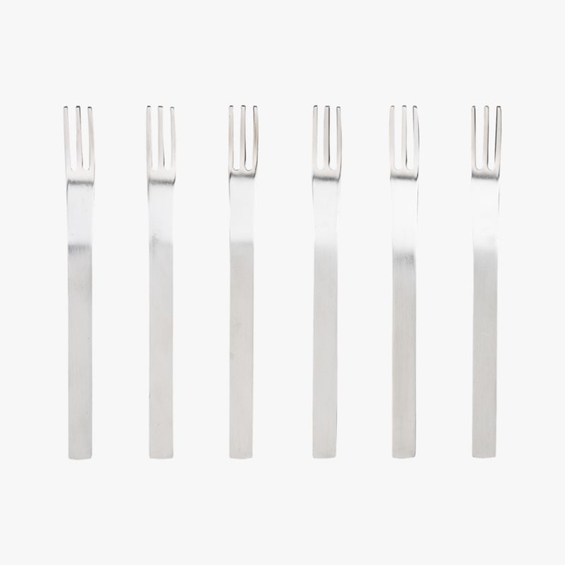 set of 6 mini cocktail forks