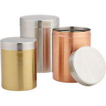 3-piece mixed metal canister set