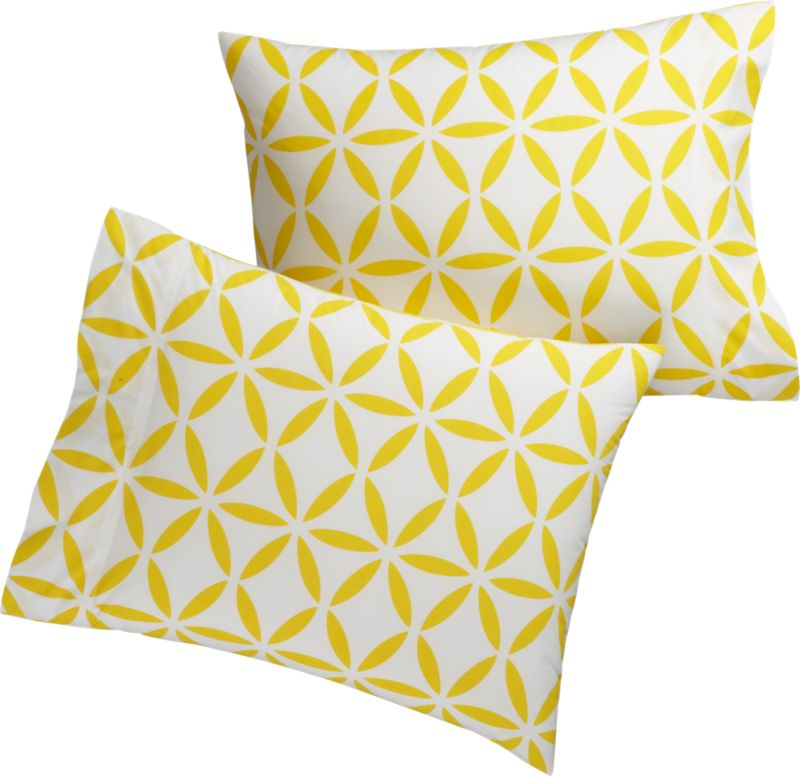 set of 2 standard mod moroccan yellow shams